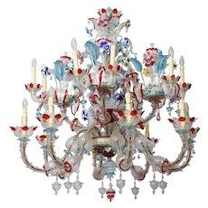 Murano multicolor chandelier 1940's