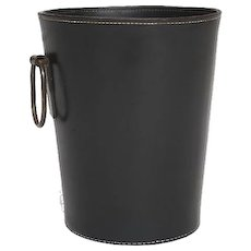 Carl Auböck Waste Basket in leather