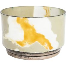 Small bowl of silver and enamel