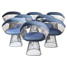 Set of 8 Knoll Warren Platner Chairs