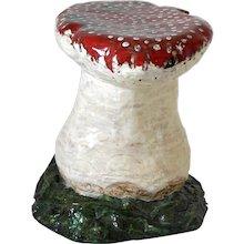 Hand-Painted French Mushroom Stool