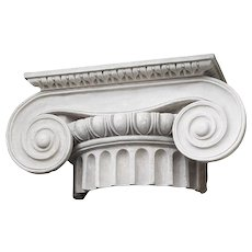 Large Ionic Plaster capital, 20th century from Royal Danish Academy of Fine Arts