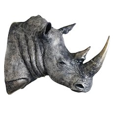 Rhino Head for James Perkins Studio A Modern Grand Tour Edition Piece