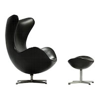 "Arne Jacobsen ""Egg"" Chair with Ottoman"