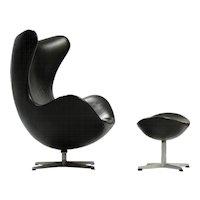 "Arne Jacobsen ""Egg"" Chair with Ottoman"
