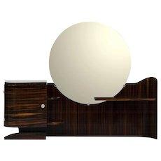 Macassar Ebony Art Deco Vanity