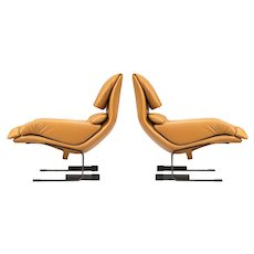 "Pair of Giovanni Offredi ""Onda"" Armchairs"