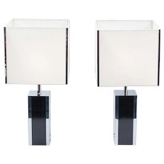 Pais of french large table lamps