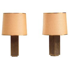 Pair of Large Table Lamps by Rodolfo Dubarry