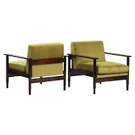 Pair of Saporiti Italian Armchairs