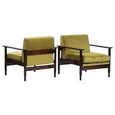 Pair of Saporiti Italian Armchairs