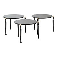 Set of Three Stackable Italian Side Tables