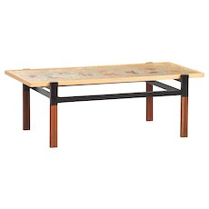 Enameled Top Coffee Table