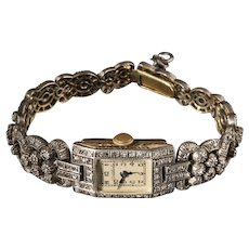 Art Deco Silver and Gold Wristwatch