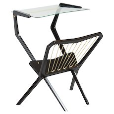 Italian Table with Magazine Rack