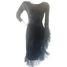1970s Chiara Boni black dress