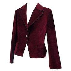 1970s Darà bordeaux velvet jacket