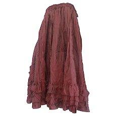 1970s Jean Paul Gaultier Bordeaux long skirt