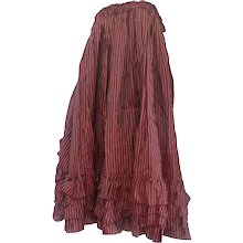 1970s Jean Paul Gaultier Bordeaux long skirt