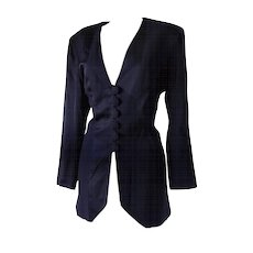 1970s Moschino Cheap & Chic black jacket