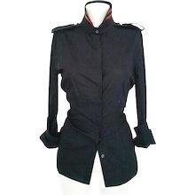 1970s Roberta Di camerino dark blu shirt NWOT