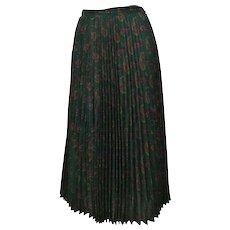 1980s Cacharel Plisset Green Skirt