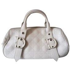 1980s Christian Dior White bag