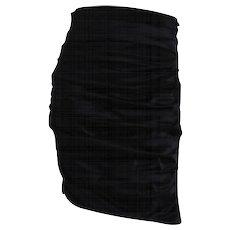 1980s Faust Black Skirt