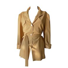 1980 Genny by Gianni Versace Beije Wool jacket