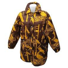 1980s Krizia Jeans Brown Yellow Bomber