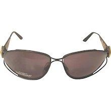 1980s Laura Biagiotti black gold and tortoise sunglasses