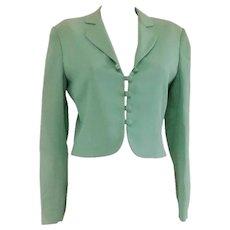 1980s Moschino Cheap & Chic green Jacket