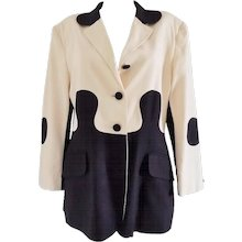 """1980s Moschino Cheap & Chic """"Puzzle"""" jacket"""