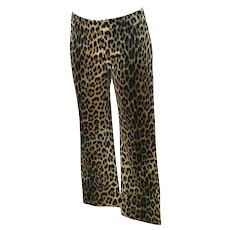 1980s Moschino Cheetah Jeggings