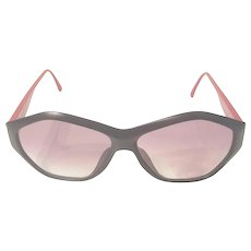 1980s Paloma Picasso black and red sunglasses