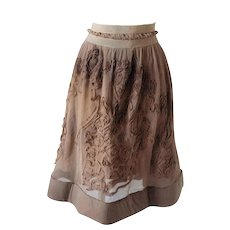 1980s Philosophy by Alberta Ferretti light brown / nude skirt NWOT