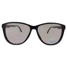 1980s Saphire frame- glasses