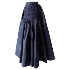 1980s Valentino Museum piece black skirt