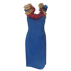 1980 Chiara Boni blu dress