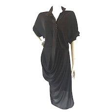 1990s Balenciaga Black Dress
