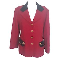 1990s Luisa Spagnoli red wool jacket