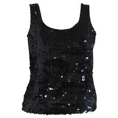 1990s L'altramoda Black sequins Shirt