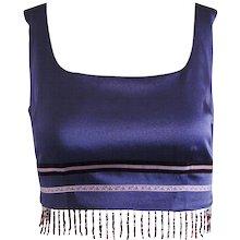 1990s Machattie Violet Beads Top