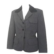 1990s Moschino Cheap & Chic grey jacket