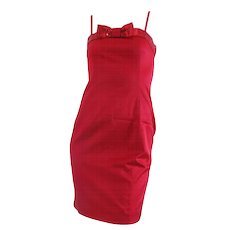 1990s Moschino Jeans red sequins dress