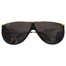 1990s Safilo Black & Gold Sunglasses