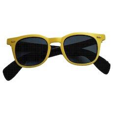 1990s SunRock Yellow Sunglasses