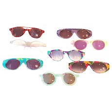 1990s Swatch sunglass with 7 different eye masks