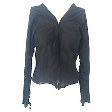 1990s Yves Saint Laurent black shirt by Tom Ford