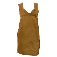 1990 Gucci Ocra Dress